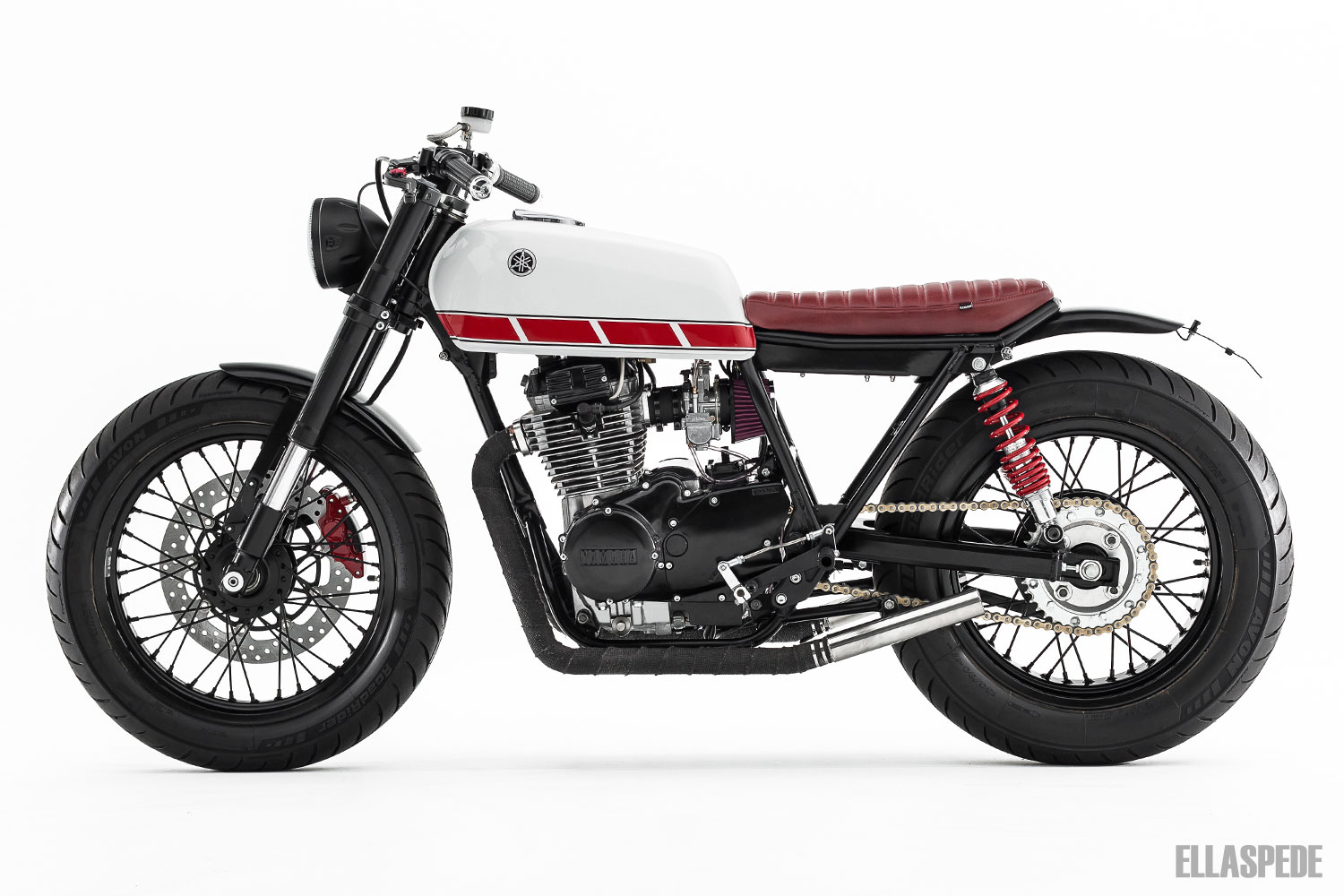 racing caf yamaha xs 400 1977 by ellaspede. Black Bedroom Furniture Sets. Home Design Ideas