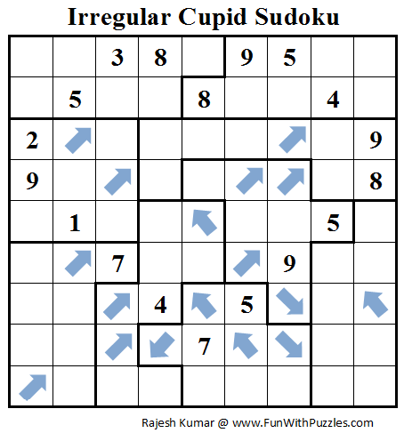 Irregular Cupid Sudoku (Daily Sudoku League #71)