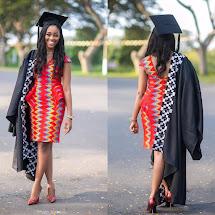 African Print Graduation Dress