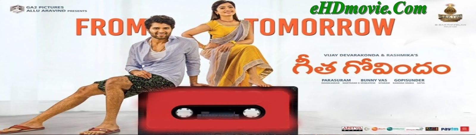 Geetha Govindam 2018 Full Movie Telegu 720p - HEVC - 480p ORG HDRip 400MB - 700MB - 1.5GB ESubs Free Download