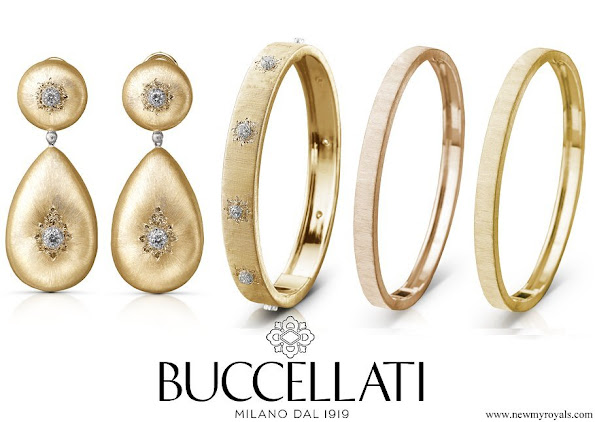 Buccellati Milan for Beatrice Borromeo Buccellati Macri Pendant-earrings and Macri Bangle bracelets