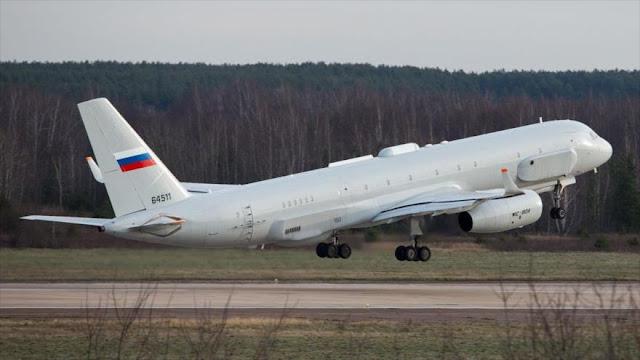 Rusia envía su avión espía más avanzado a Siria