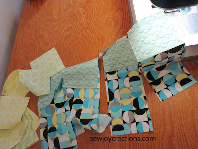 chain piecing Dropping In quilt Good Vibes fabric