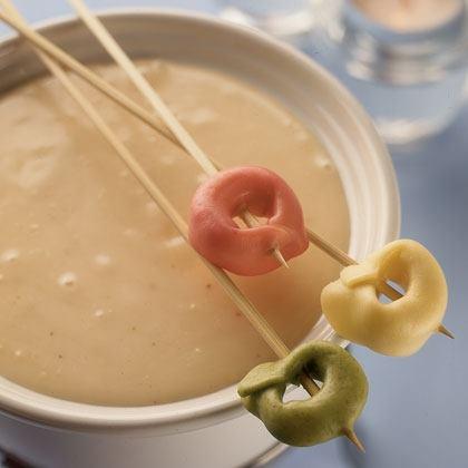 Tortellini and Cheese Fondue Recipe