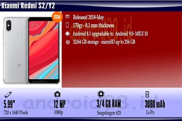 Spesifikasi Xiaomi S2/Y2