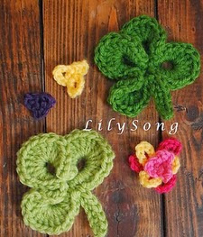 http://www.ravelry.com/patterns/library/free-clover-crochet-embellishments