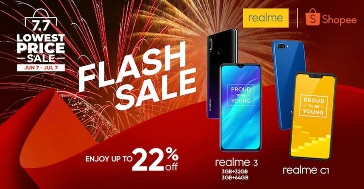 Realme Joins Shopee's 7.7 Lowest Price Sale