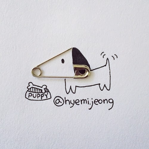 13-Puppy-Hyemi-Jeong-Everyday-Things-to-Draw-With-www-designstack-co