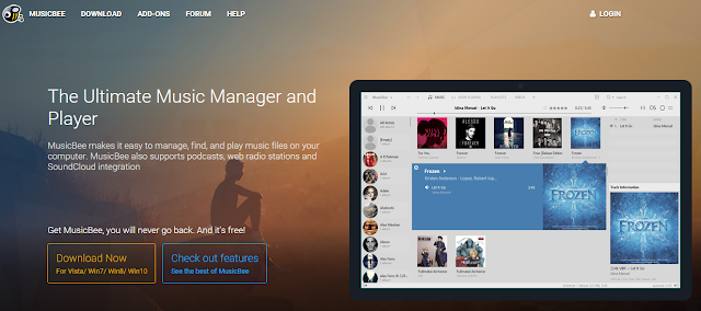 Musicbee is the best free audio player for windows PC