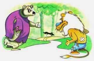 La zorra, el oso y el leoon: fabula