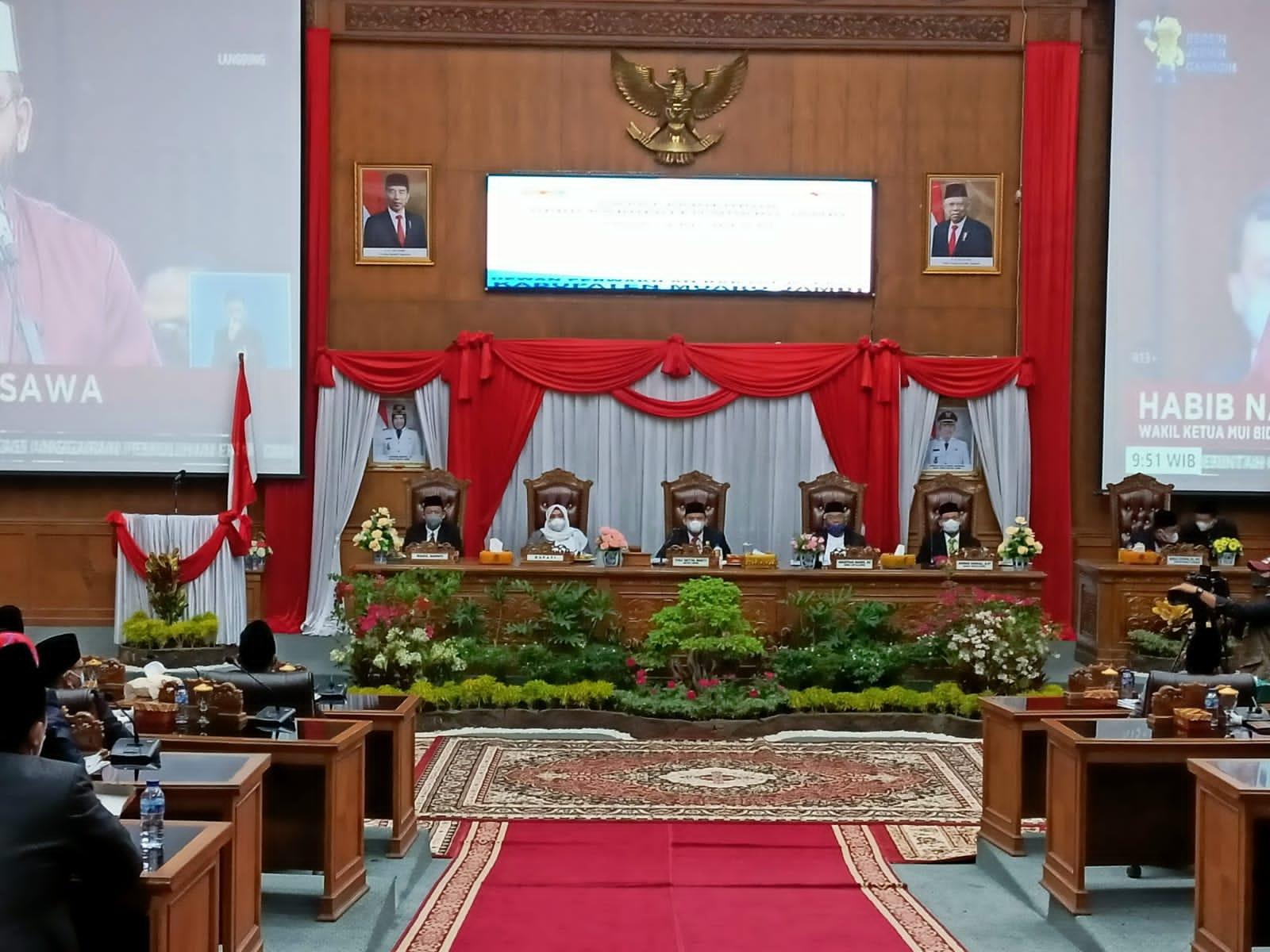 DPRD Muarojambi Rapat Istimewa Mendengarkan Pidato Presiden