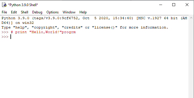 """""""Hello ,World!"""" program what is The Correct Syntax to Output Hello World in Python 1 Point"""
