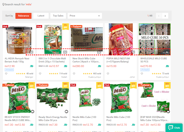 Shopee ad appearance on desktop (1)