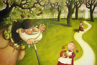 Blick ins Bilderbuch: Theodor Fontane - Herr von Ribbeck auf Ribbeck im Havelland, illustriert von Dorota Wünsch im Kindermann Verlag