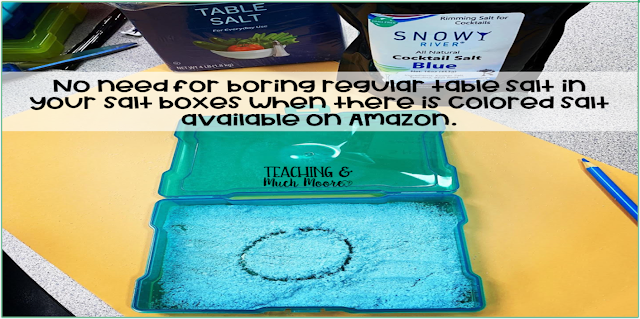using salt boxes in the primary classroom