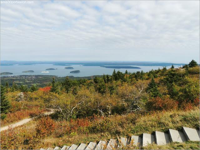 Vistas desde Mount Cadillac en el Parque Nacional de Acadia, Maine