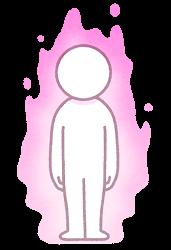 オーラのイラスト(ピンク)