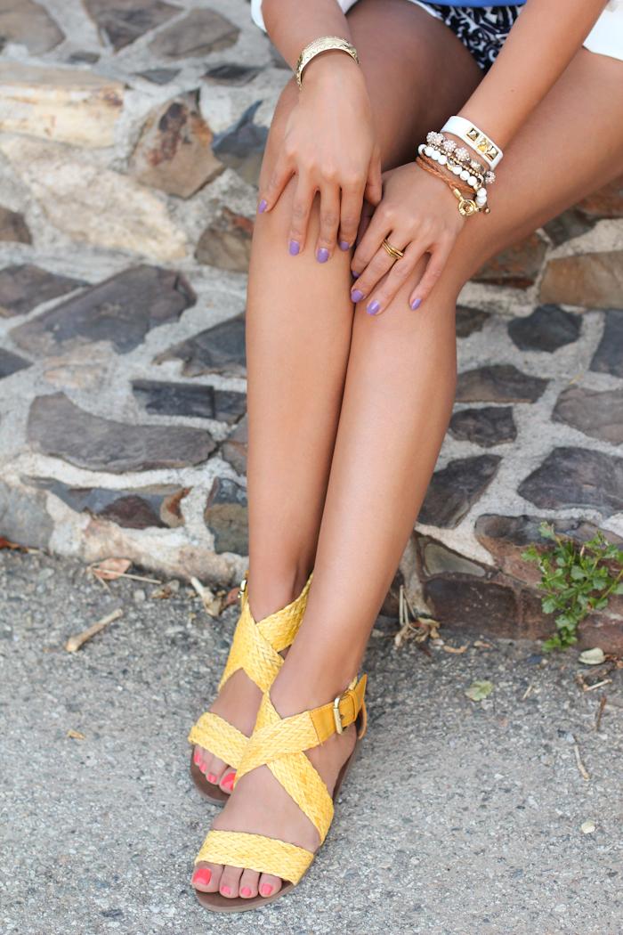 03a4bbc6118 Jrillaria wedge sandal in yellow via Pink   Pepper