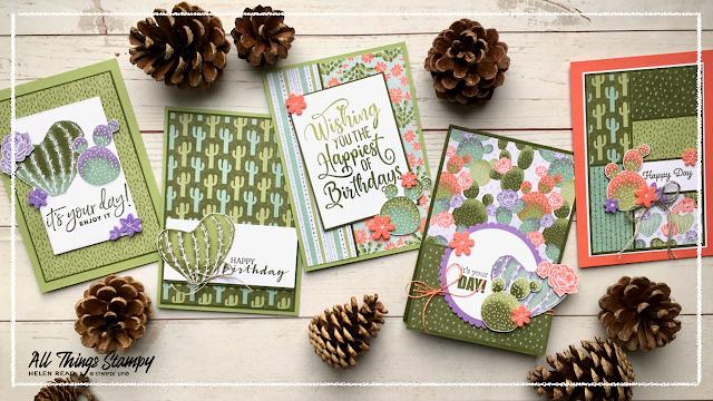Cactus Medley stampin up card ideas