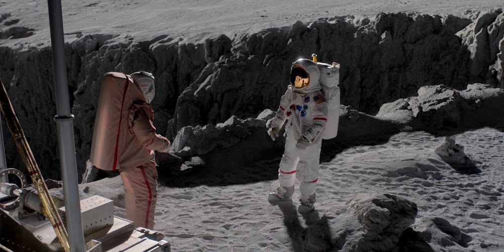 US astronaut encountering menacing Soviet cosmonaut on the Moon in season 1 of 'For All Mankind'