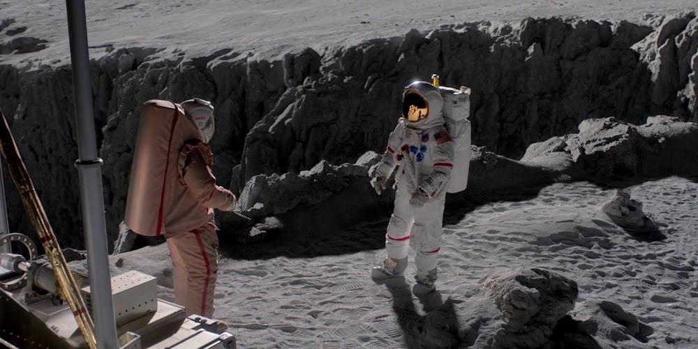 अमेरिकी अंतरिक्ष यात्री 'ऑल मैनकाइंड' के सीज़न 1 में चंद्रमा पर सोवियत कॉस्मोनॉट का सामना करते हुए