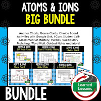 Atoms, Ions, EARTH SCIENCE MEGA BUNDLE, Earth Science Curriculum, Anchor Charts, Game Cards, Puzzles, Vocabulary Activities, Choice Boards, Digital Interactive Notebooks, Word Walls, Picture Puzzles, Test Prep