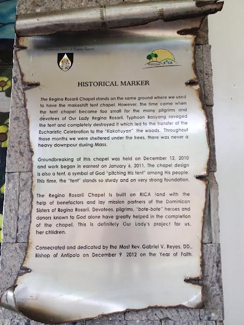 Regina Rosarii Historical Marker