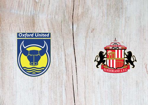 Oxford United vs Sunderland -Highlights 29 October 2019