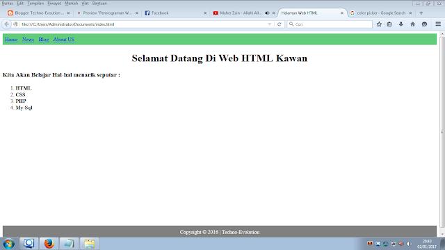 pemrograman web html dasar
