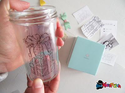 personalizzare un vaso di vetro con Phomemo