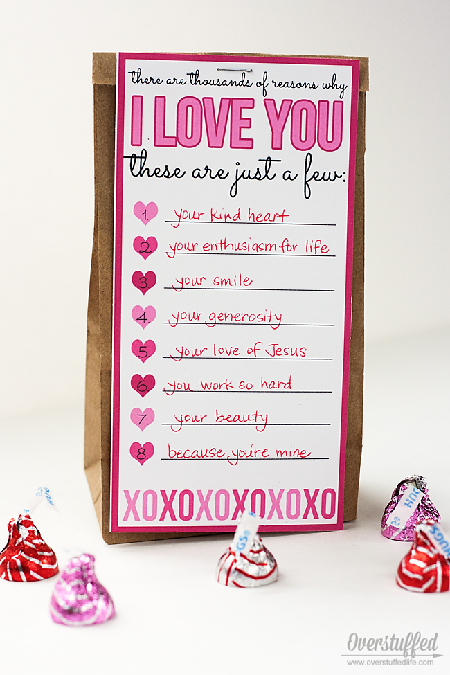 image about I Love You Because Printable named Valentine Take pleasure in Listing Printable - Overstuffed