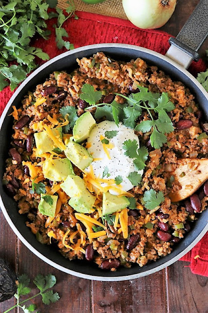Burrito Bowl Skillet with Ground Beef Image