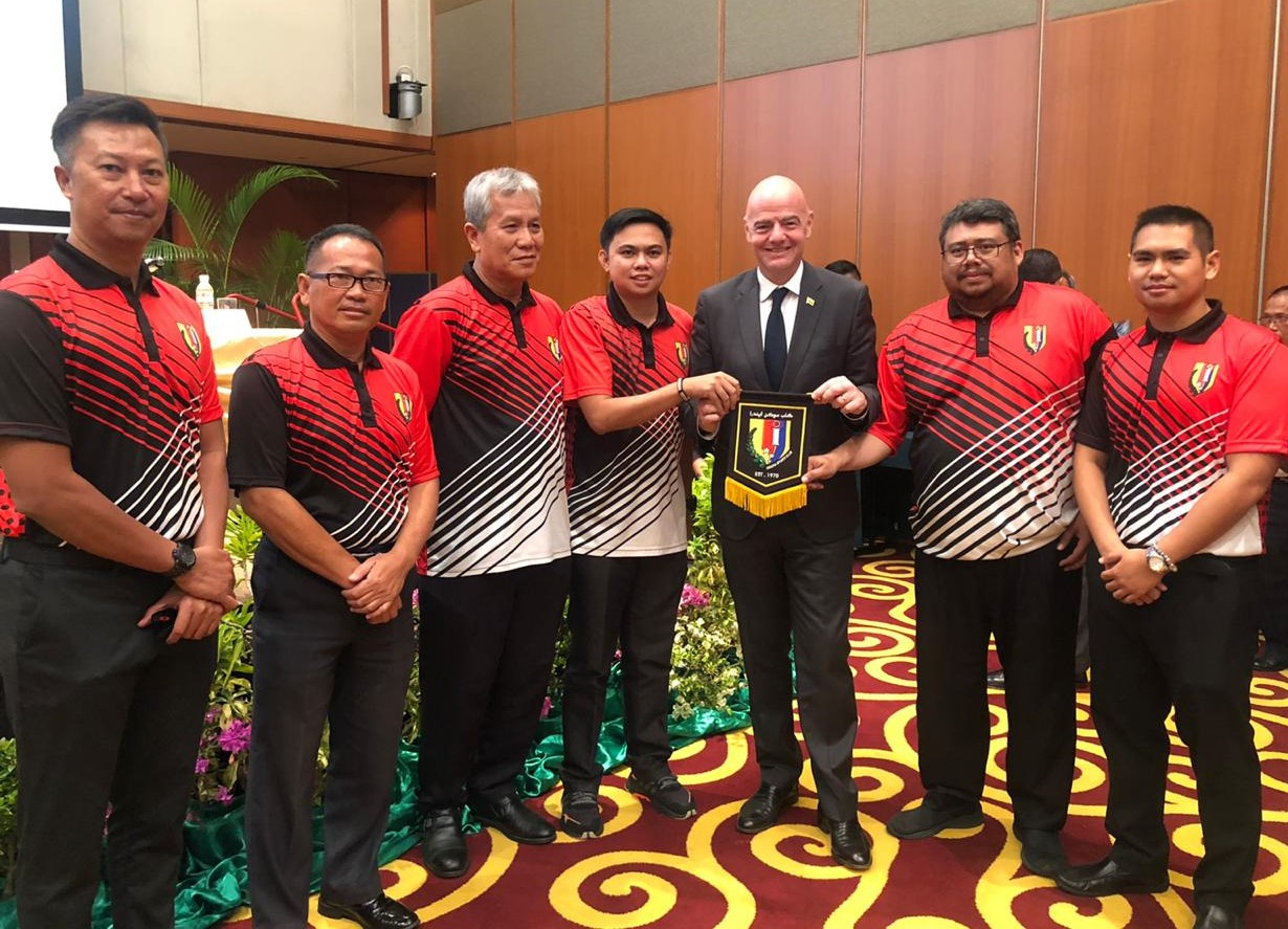 The President of FIFA, Mr. Gianni came to Brunei Darussalam.