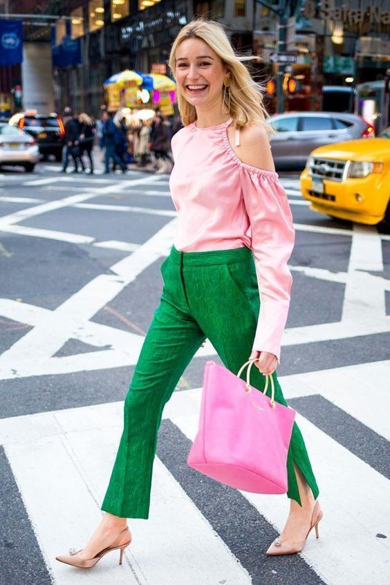 GREEN AND PINK IDEAS FASHION