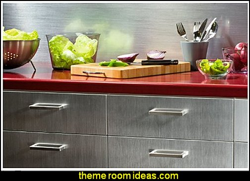 Stainless Steel Adhesive Vinyl Film kitchen accessories - fun kitchen decor - decorative themed kitchen  - novelty mugs - kitchen wall decals - kitchen wall quotes - cool stuff to buy - kitchen cupboard contact paper -  kitchen storage ideas - unique kitchen gadgets - food pillows