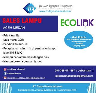 Sales Lampu di PT Tridaya Dimensi Indonesia