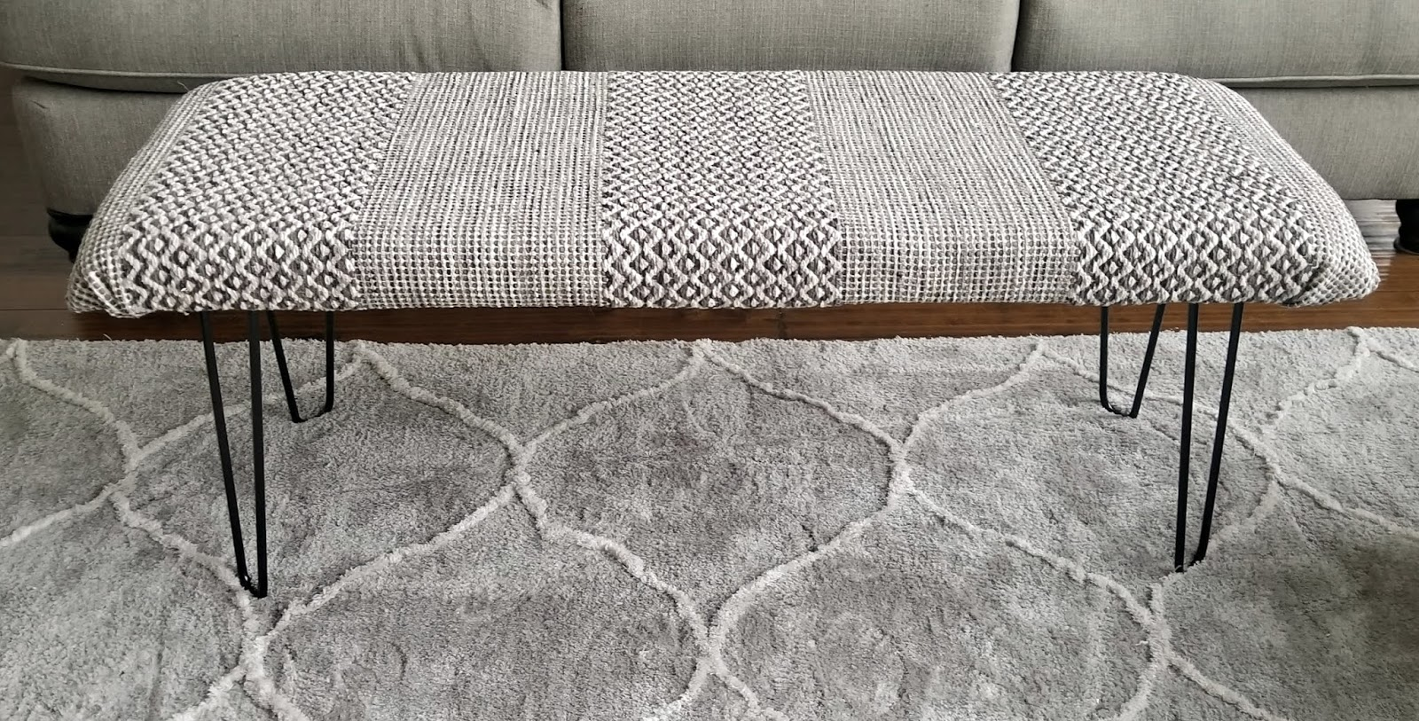 How To Make A Diy Bench Ottoman Out Of A Rug And Hairpin Legs 320