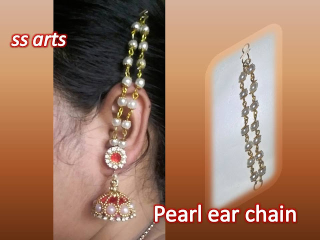 Here is silk thread jewellery,pearls jewellery,quilling jewellery,terracota jewellery,clay jewellery,beads jewellery,crystal jewellery,all jewellery making at home,how to make pearls ear chain at home