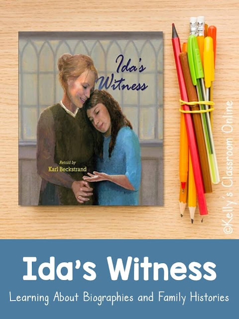 Learn about biographies and family trees while reading Ida's Witness by Karl Beckstrand, a true story about how his great-grandmother came to America.