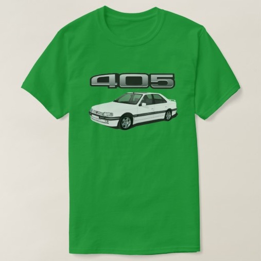 Peugeot 405 t-shirt white zazzle