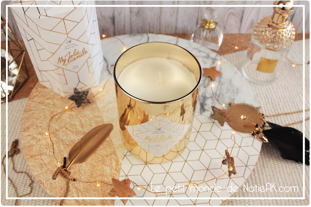My jolie candle bougie Gold Edition