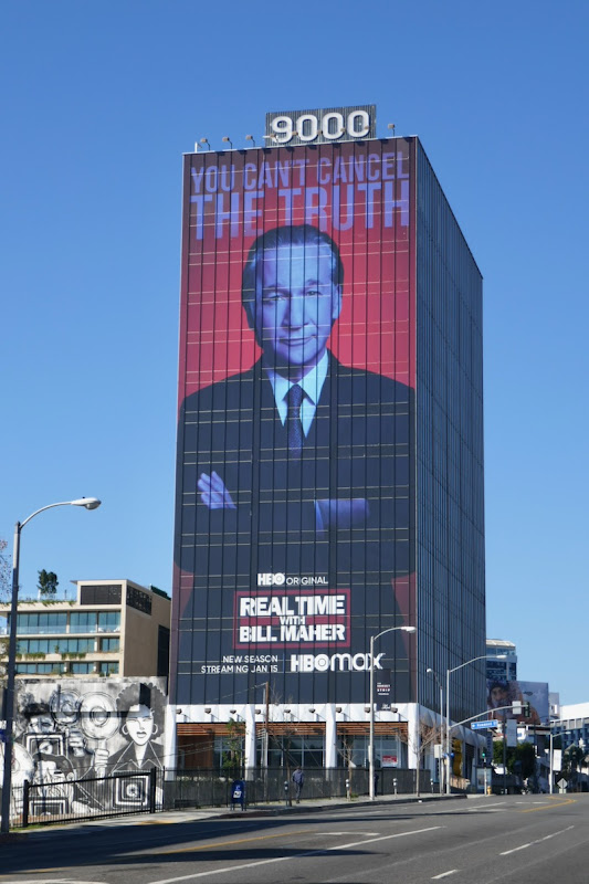 Giant Real Time Bill Maher season 19 billboard