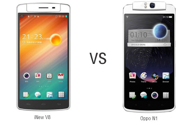 Review V8 baru - V8 New (oppo N1 clone)VS Oppo N1