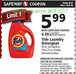 Tide coupons april 2017