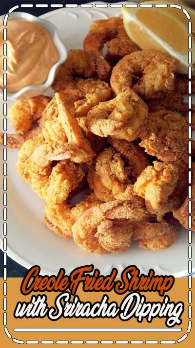 Creole Fried Shrimp with Sriracha Dipping Sauce- Creole Contessa