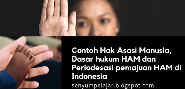 Contoh Hak Asasi Manusia, Dasar hukum HAM dan Periodesasi pemajuan HAM di Indonesia