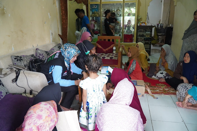 LKC Dompet Dhuafa Datangi Warga Korban Banjir di Sembilangan Babelan Tarumajaya