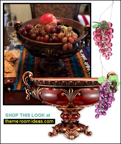 Ruby Decorative Fruit Bowl tuscany kitchen decor tuscan kitchen decorating tuscany kitchens