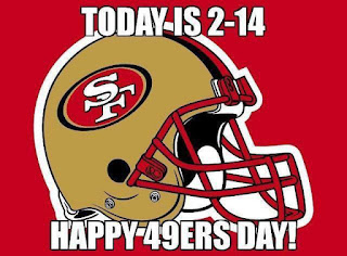 #nfl #49ers - Today is 2-14, happy 49ers day!