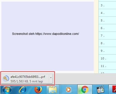 Tunggu proses download prefill dapodik sampai selesai